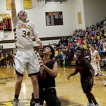 Kickapoo forward Jared Ridder (34) received basketball scholarship offers from Missouri State and IUPUI. He has two seasons of high school basketball remaining.