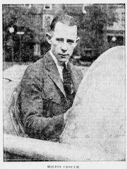 Hilton Crouch as a dirt car racer in 1925.
