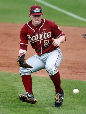 Florida State first baseman John Nogowski was a 34th-round selection of the Oakland A's in 2014.