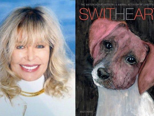 Loretta Swit and book cover.