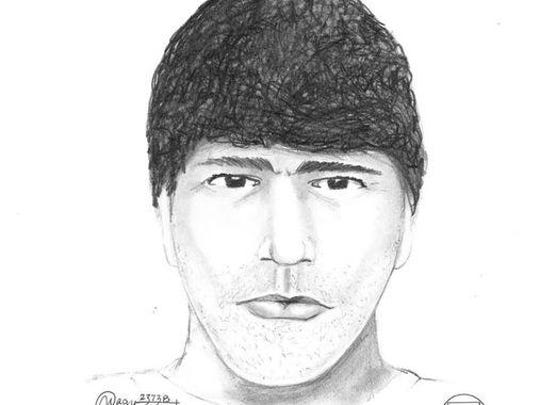 The initial sketch of a man who police believed was involved in a shooting that took place in northeast Salem May 29.