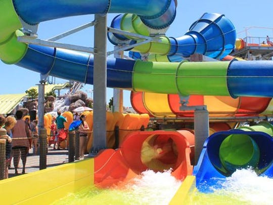 Jenkinson's Breakwater Beach added a new ride in 2012: Two If By Sea offers two slides, a super centrifugal water tube bowl and an oscillating serpentine tube ride with high banking turns.