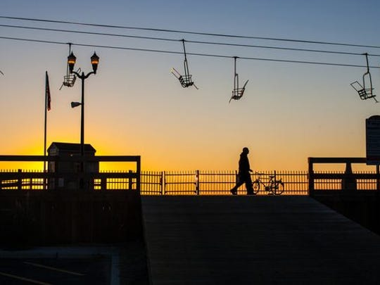 A view of the sky ride in Seaside Heights.