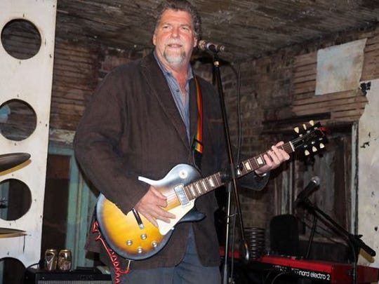 Joe Petillo onstage at the last jam at the Upstage Club in Asbury Park on Friday.