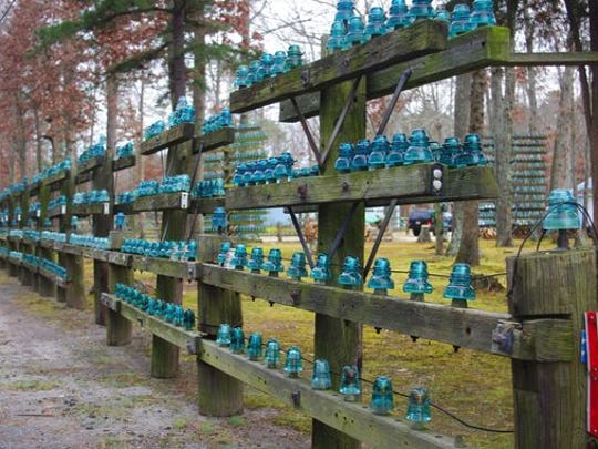 A long view of the insulators surrounding Stanley Hammell's property.