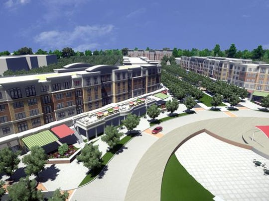 Overview of proposed Manalapan Crossing development.