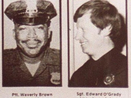 Waverly Brown, left, and Edward O'Grady, right