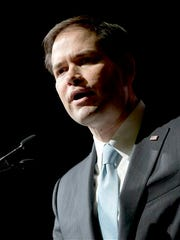 In this May 15, 2015 file photo, Republican presidential candidate Sen. Marco Rubio, R-Fla., speaks in Athens, Ga.
