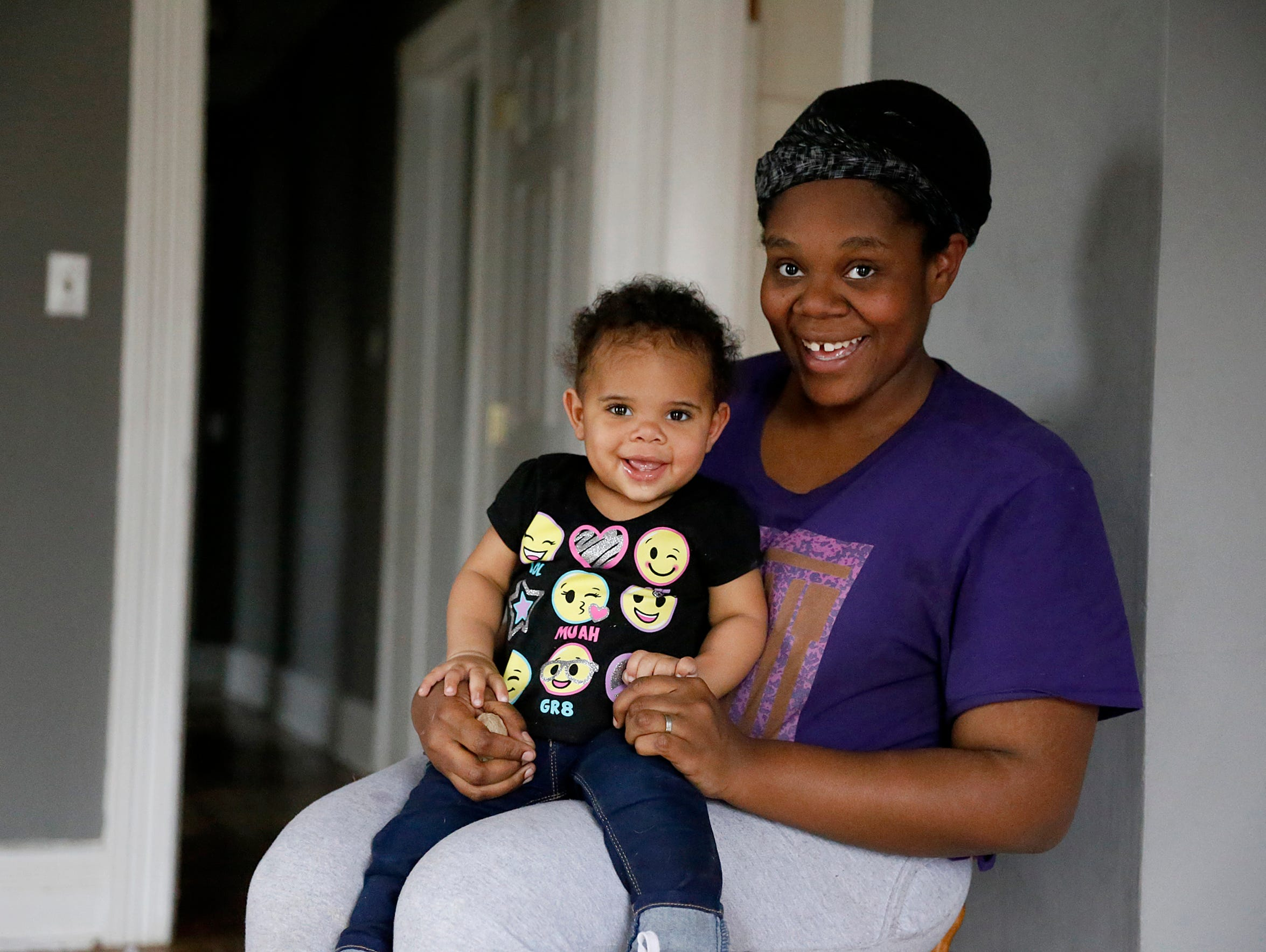 First-time mother Sharee Bailey, of Elmira, with her