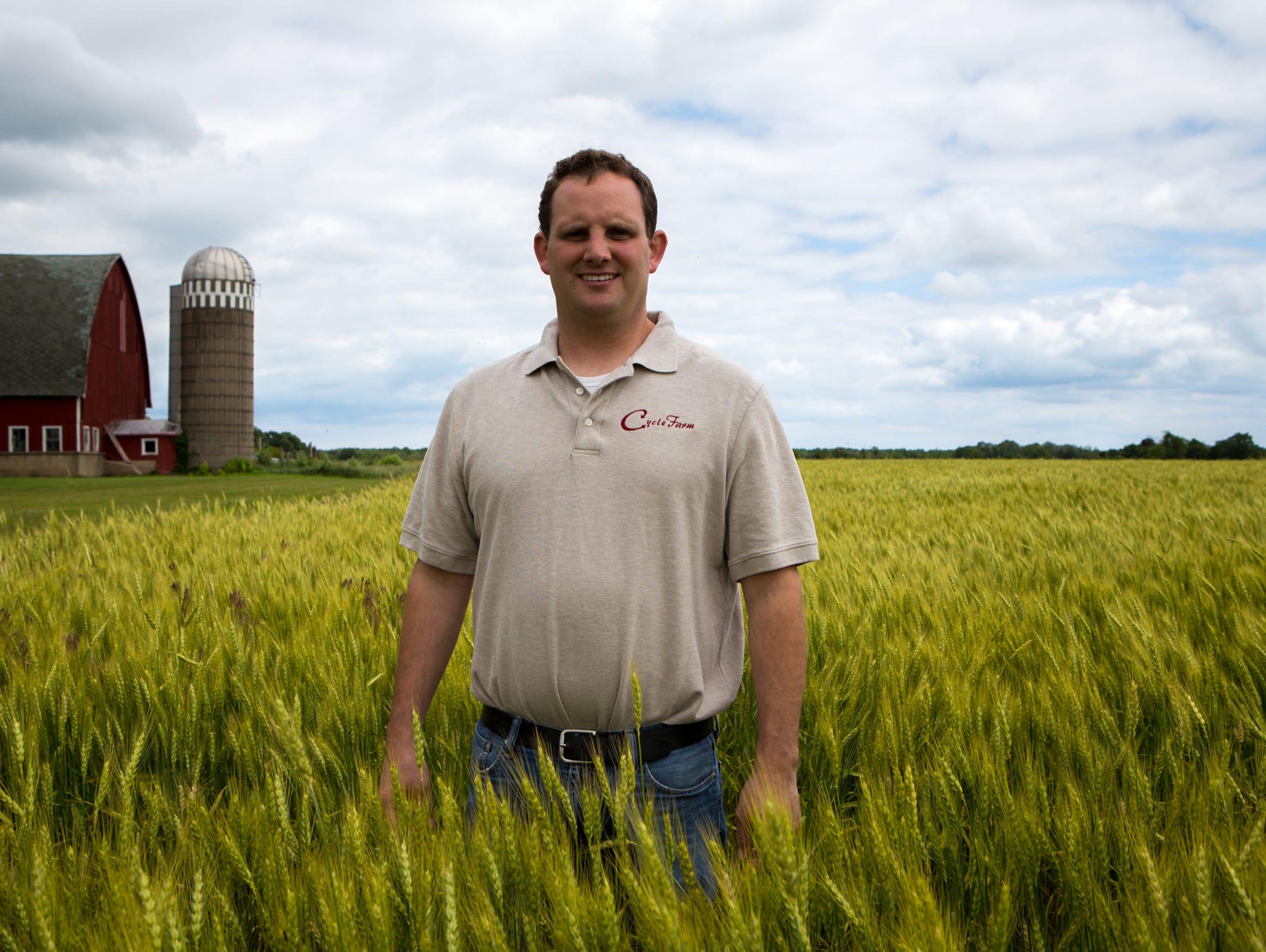 Tony Brey is a dairy farmer in Door County, Wisc.,