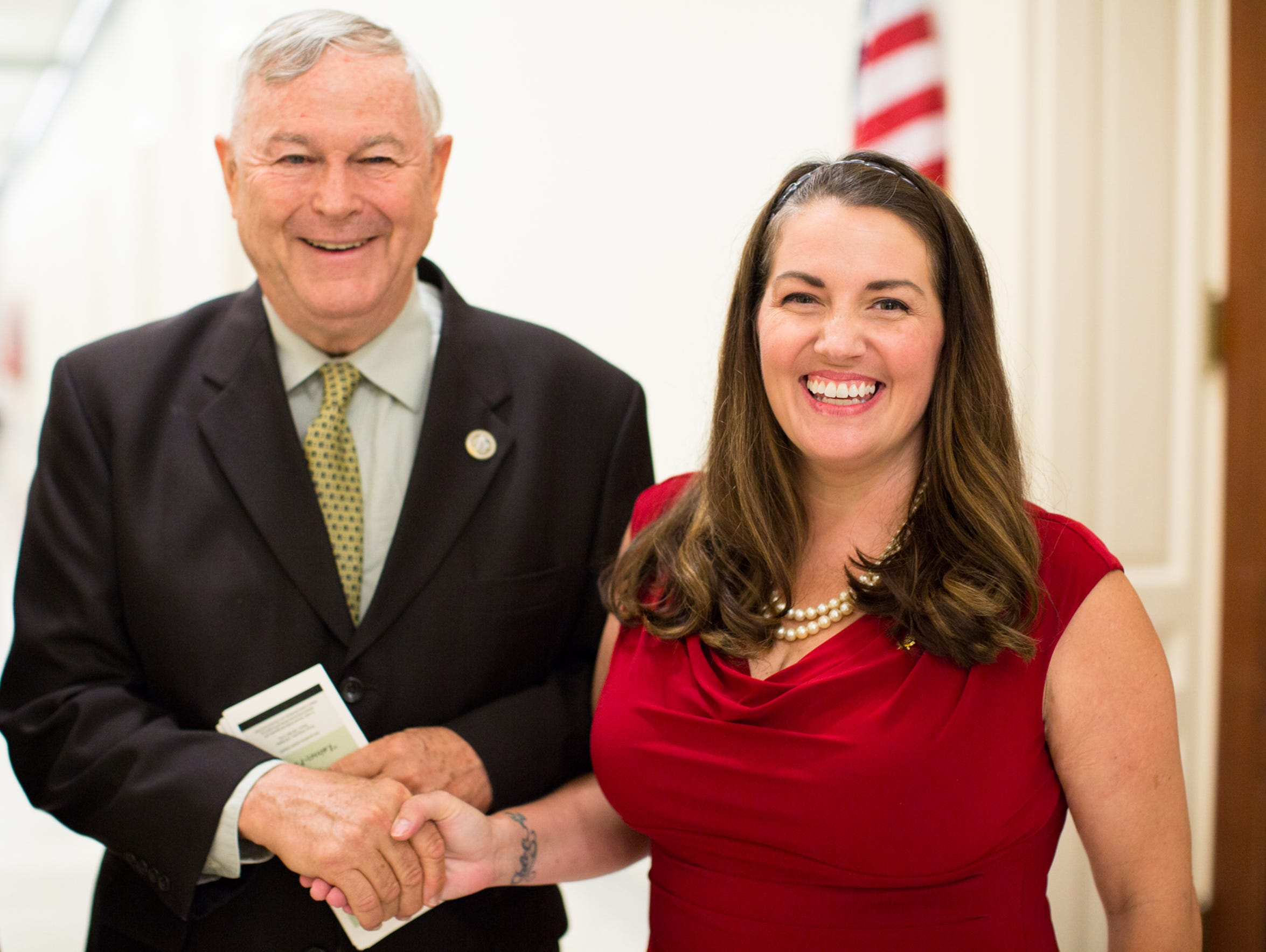 Rep. Dana Rohrabacher and Nikki Narduzzi at Virginia
