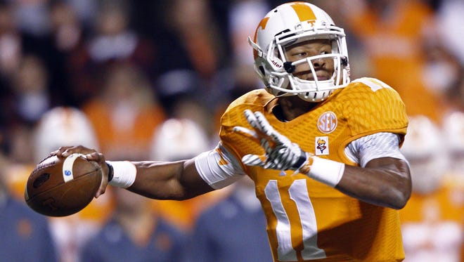 Tennessee quarterback Joshua Dobbs could cause problems for an Iowa defense that had trouble stopping mobile quarterbacks earlier this season.