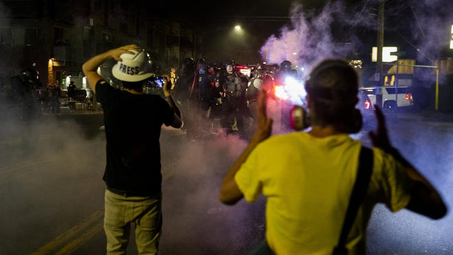 Portland protests continue for the 69th consecutive day Tuesday.