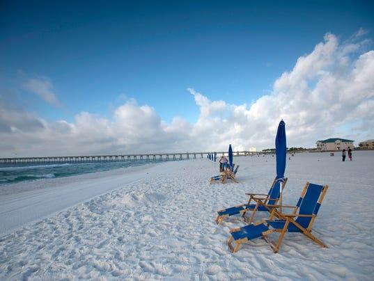 Lifeguard Stands at Pensacola Beach