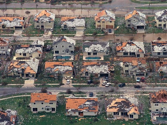Hurricane Andrew Overhead