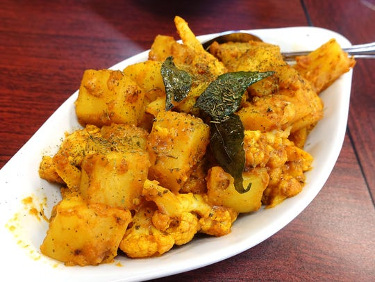 Aloo gobi with cauliflower and potatoes at Haldi Indian Cuisine in Surprise.