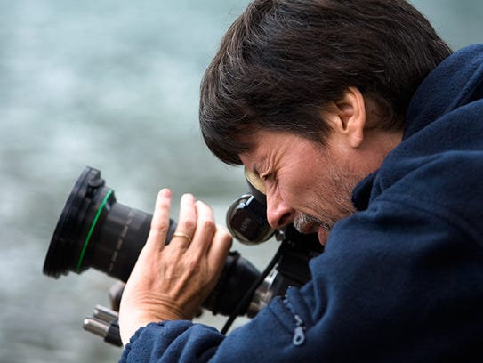 "Documentary legend Ken Burns, pictured filming ""The"