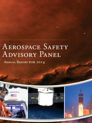 Cover of the Aerospace Safety Advisory Panel's 2014 annual report.