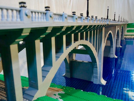 The Tennessee Valley LEGO Club built a LEGO recreation