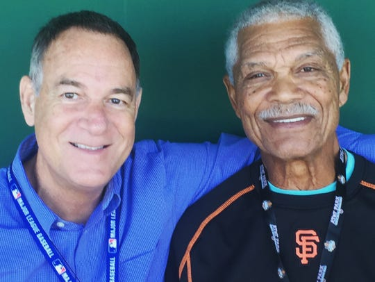 Peter Kerasotis, left, and former MLB player and manager