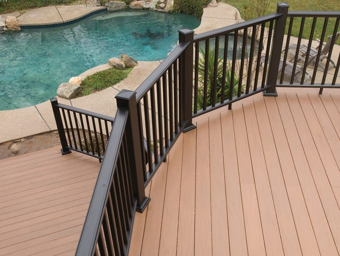 This low-maintenance deck from AZEK incorporates interesting