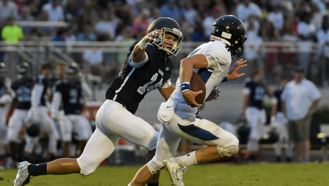 Senior defensive back Jack Voight and the Southside Christian Sabres, No. 2 in Class AA, have won 17 consecutive games.