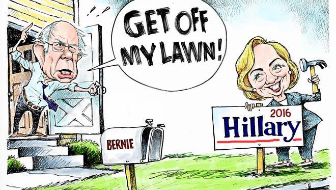 Bernie and Hillary turf war