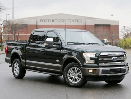 The new Ford F-150 truck at the Dearborn Truck Plant
