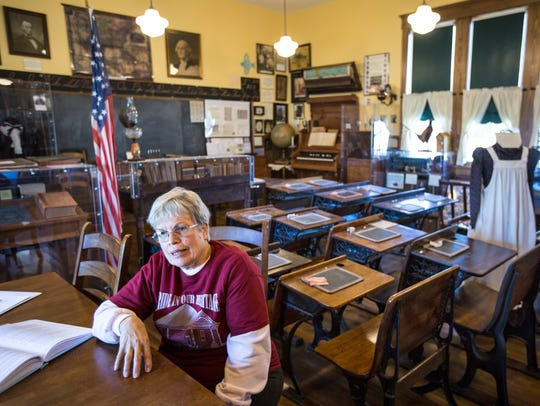 Carol Raasch is docent at the Iowa rural schools museum