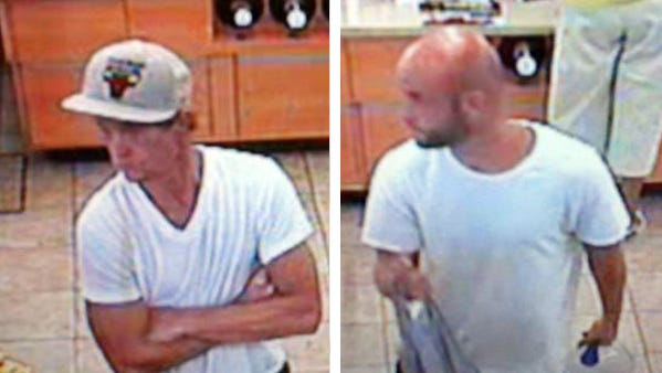 Security footage depicts Greenwood burglary suspects cashing in a stolen lottery ticket Thursday, July 30, 2015.