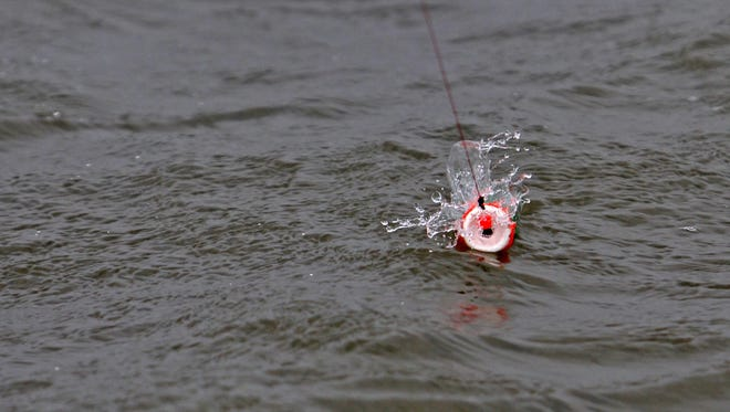The concave tops of many foam and hard plastic popping floats are meant to create a surface noise with each rod twitch.
