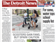 The front page of The Detroit News for Tuesday, September