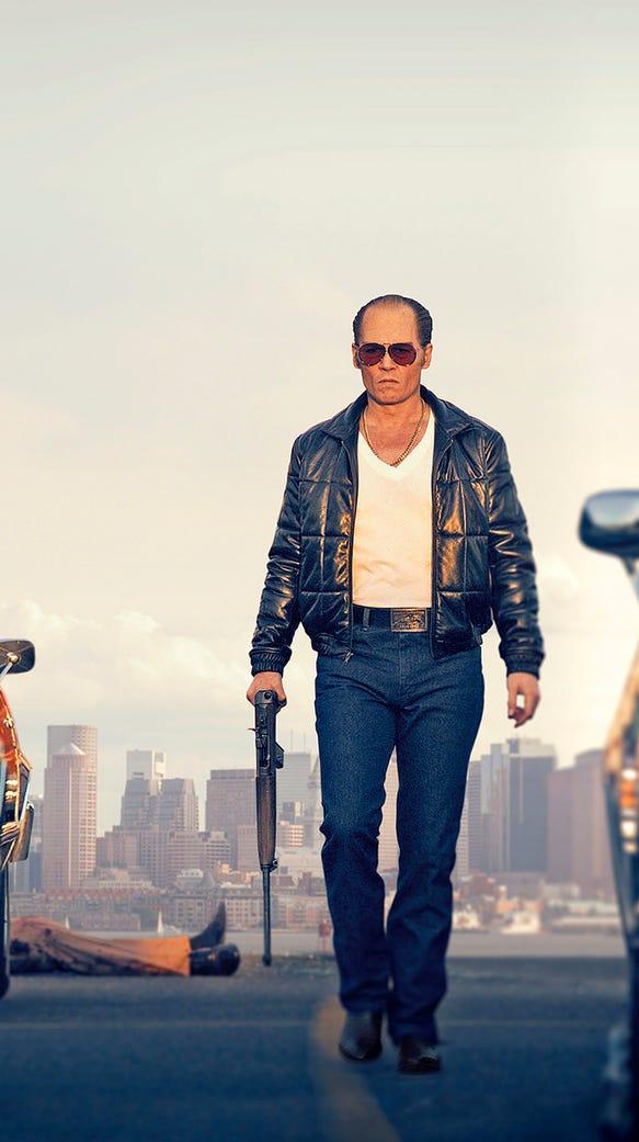 Johnny Depp portrays Whitey Bulger in 'Black Mass.'