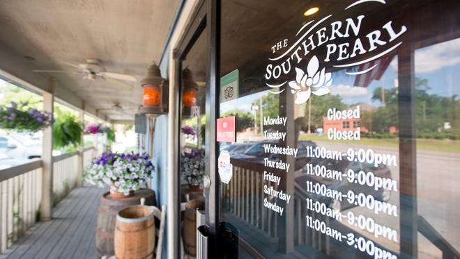 Front entrance of the new Southern Pearl restaurant in Pace on Wednesday, April 25, 2018.