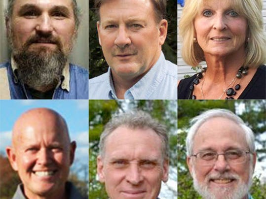 Shown are the FRESH Plan and Hellam Smart Growth candidates for the Hellam Township Board of Supervisors. Shown across the top from the left are the FRESH Plan candidates Dave Miller, Phil Smith and Riki Potoski. Bottom from left are the Hellam Smart Growth candidates Bill Sprenkle, Stephen Wolf and Mike Martin. Submitted