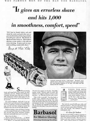 Babe Ruth gave his endorsement for Barbasol