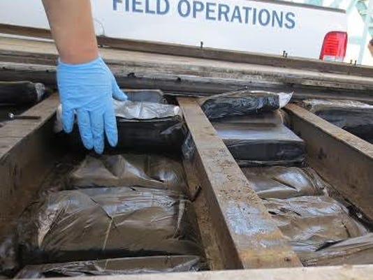 A 46-year-old man has been arrested on suspicion of attempting to smuggle more than 3,400 pounds of marijuana across the Santa Teresa port of entry.