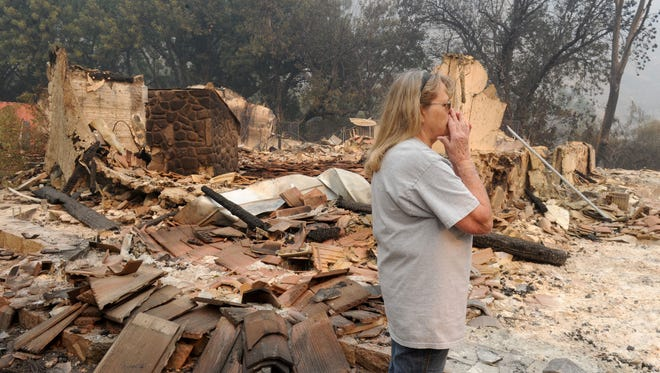Judy Bell lost her home to the Thomas Fire. She lives at Highway 33 and Camino Cielo. The family is staying at a hotel.