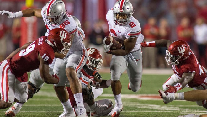 J.K. Dobbins is off to the second-fastest start by a freshman tailback in Ohio State history.