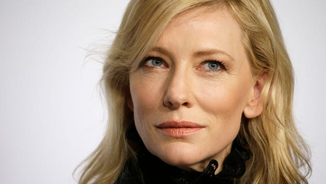 """Cate Blanchett attends a press conference for the film """"Carol,"""" at the 68th Cannes international film festival."""