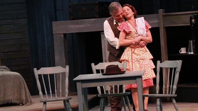 "Brian Mani and Tracy Michelle Arnold gave compelling performances in ""Death of a Salesman."""