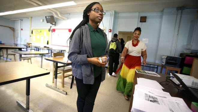 Breyasha Robinson, a sophomore at Martin Luther King Jr. College Preparatory High School, is a student that has been helped by Agape Family Services and their efforts to get truant kids to school.