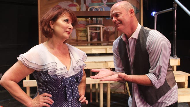 """Karren Walter and Rob Kenna in The Vero Beach Theatre Guild's production of """"The Pajama Game"""""""
