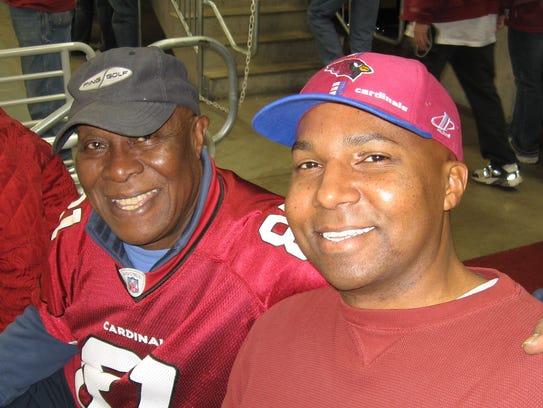 Musician C.C. Jones, left, with his son Chris Jones.