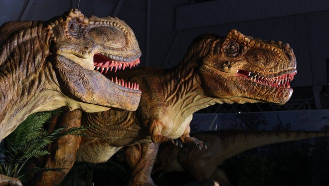Dinosaurs invade the Knoxville Convention Center this weekend.