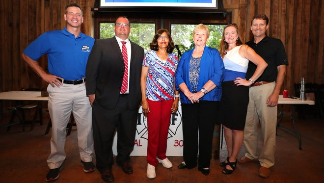 The Murfreesboro Firefighter Association held a public forum for the Murfreesboro City Council Candidates on Tuesday, June 12, 2018, at the Grove. Murfreesboro City Council Candidates that attend the event were (L to R) Ronnie Martin, Shawn Wright, Vice Mayor Madelyn Scales Harris, Nancy Rainer, Terry Schneider and Councilman Rick LaLance.