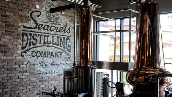 Inside the now officially opened the Secrets Distillery on Wednesday, in Ocean City. Megan Raymond