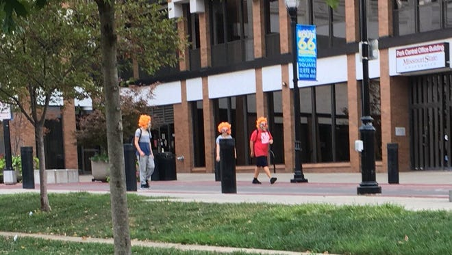 Police Chief Paul Williams tweeted this photo Tuesday of creepy clowns in downtown Springfield.
