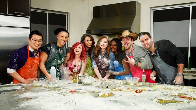 The contestants and housemates of MTV's 'House of Food.' From left: Brian, Will, Amanda, Lorena, Gillian, Suki  Jake and Harrison.