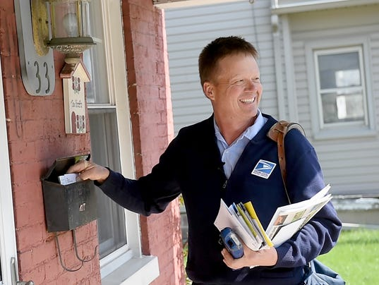 He was Dover's mailman for 23 years. He recently said goodbye.